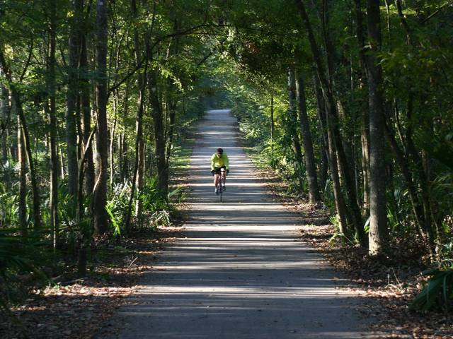 Clay County offers more than 15 miles of picturesque bike trails.