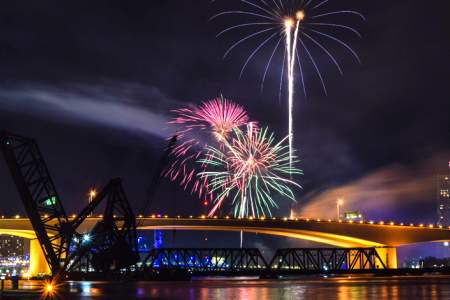 4th of July Fireworks Downtown Jacksonville
